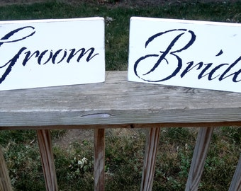 Groom and Bride Photo Photography Beach Wedding Prop Signs Decoration