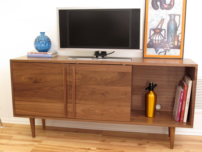 kasse credenza tv stand in solid walnut by stornewyork on etsy. Black Bedroom Furniture Sets. Home Design Ideas