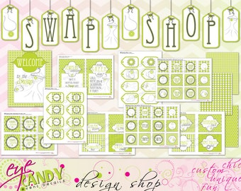 CLOTHING SWAP Party - Shopping Party - Swap n Shop -DIY Printable Party - Fashion Swap - Recycle Party -