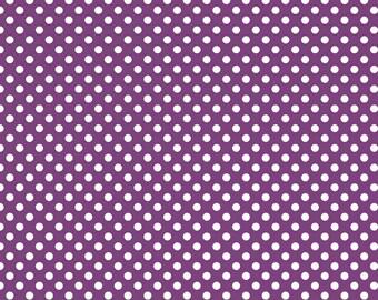 Riley Blake Designs - Small Dots in Purple - Cotton Fabric - 1 Yard