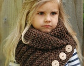 KNITTING PATTERN - Ruston Cowl (Toddler, Child, Adult sizes)