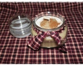 CINNABUN 12 oz  Primitive Handmade Jar Candle- Highly Scented