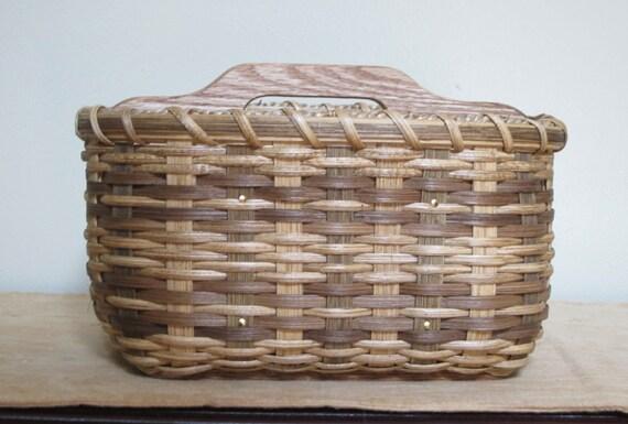 Paper Plate - Silverware Basket / Handwoven Basket