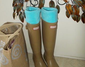 Cream Fleece Rain Boot Liners Wellie liners Regular or Tall