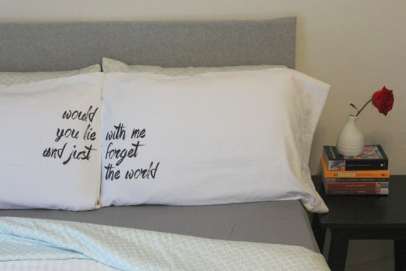 couples pillow cases snow patrol would you lie with by osusannahs. Black Bedroom Furniture Sets. Home Design Ideas