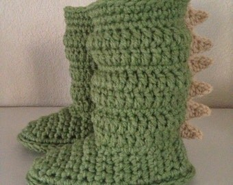 dragon toddler slippers crochet
