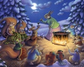 Around the Campfire 8.5 x 11 Print