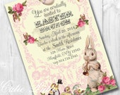 Easter Invitations, Printable Custom Invitations by Cutie Putti Paperie