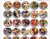 Bottlecap Cameo: 25pcs 25mm or 1inch circle round Cabochon.  Zombie Space Babes 1