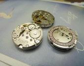 1pcs 20mm  Small Steampunk - Watch movements - Calendar - Vintage Mechanical Watch movements Steampunk NC114-2