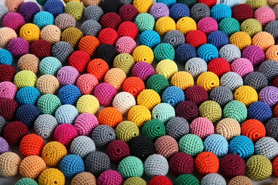 1000 madera redondo crochet perlas bolas para joyer a juguetes - Bolas de ganchillo ...