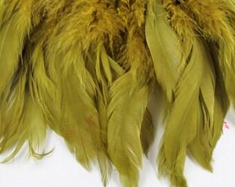 Olive feathers Schlappen SCH-08