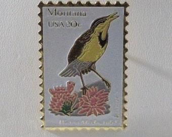 Lapel Pin - Montana Bird Stamp 20 cents