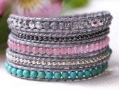 Silver Pastel Wrap Bracelet