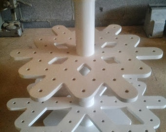 Snowflake Cake Pop Stand.  Holds 108 Cake Pops.  Original design and totally unique!
