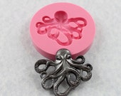 Octopus Silicone Mold Mould Resin Polymer Clay Wax PMC Fondant Candy Chocolate (334}