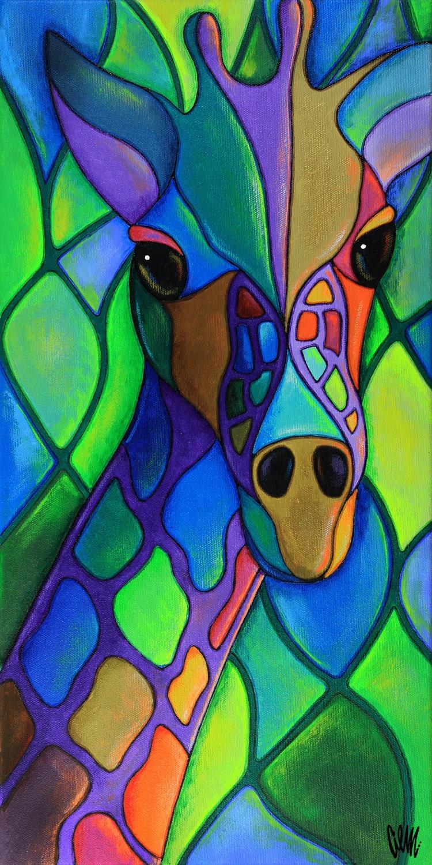 Mi cuello colorido de los bosques for Imagenes de cuadros abstractos faciles de hacer