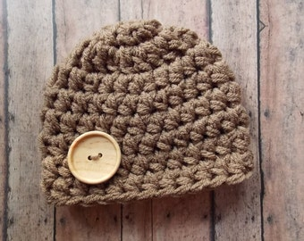Chunky baby hat - photo prop - newborn  size only - made to order