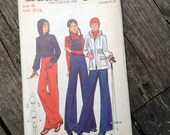 "5 BUCKS Butterick 6872 Vintage Jumpsuit and Hoodie Ski Snow Jacket Pattern Size 31 1/2"" Bust"