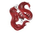 Red Long Fringe Earrings.Christmas Santa Extra Long Earrings.Shoulder Dusters.Handmade Jewelry