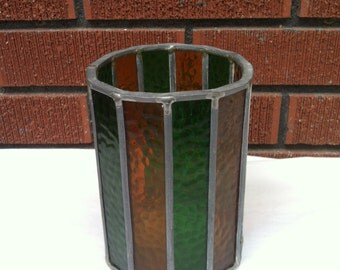Vintage Colorful Glass Candle Holder