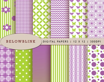 Tinkerbell Digital Paper Pack, Scrapbook Papers, 12 jpg files 12 x 12 - Instant Download - DP196