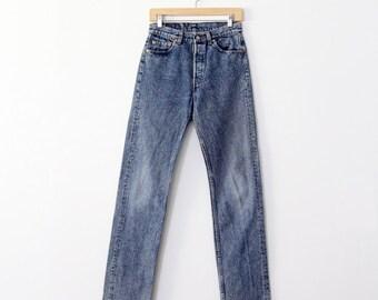 Levi's 501 jeans, vintage 1980s denim Levis, waist 29