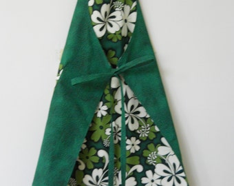 Large Flowers REVERSIBLE French Chef Apron