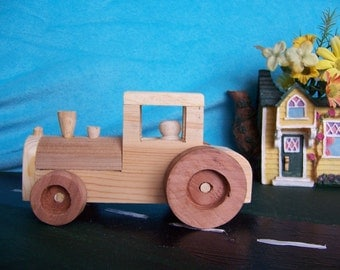 Toy Tractor Handcrafted for the Kids from Upcycled Wood, Farm Toy Tractor Truck, Child's Toy