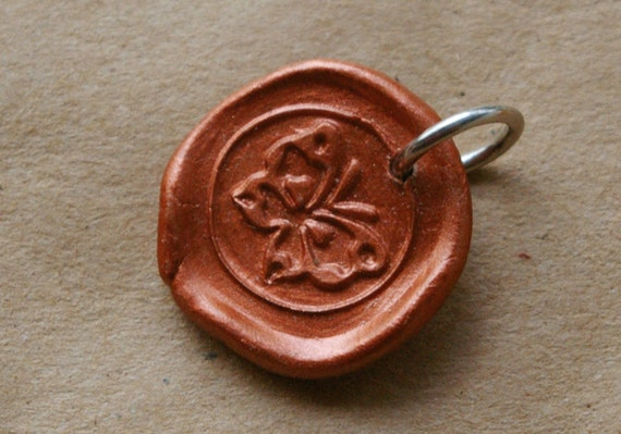 butterfly wax seal charm