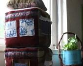 Plush House Blocks, Eco friendly stuffed toy, Upcycled soft blocks