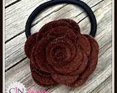Chocolate Rose Ponytail holder