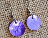 Purple Shells . Earrings . Marina Collection