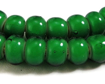 Green Whitehearts Venetian Trade Beads African 73556