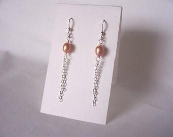pearl earrings, tassel earrings, dangle earrings, long earrings, Summer 2017 fashion trends, everyday earrings,  great gift idea