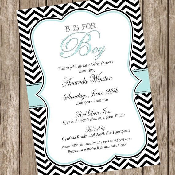 is for boy elegant baby shower invitation boy baby shower invitation