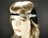 Beaded Art Deco Headband, Flapper Headband Great Gatsby Headpiece, 1920s Headpiece, 1920s Hair Accessory, Downton Abby
