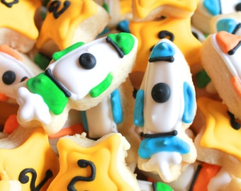 5 dozen Rocket Ship Star MIni Cookie Nibbles