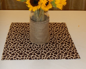 Giraffe Print Table Square, 20 inch Square, Baby Shower, Bridal Shower, Party, Wedding Decor