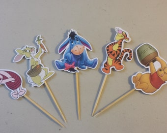 winnie the pooh and friends cupcake toppers