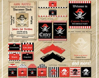 Pirate Party - Pirate Party Package - Party Printables