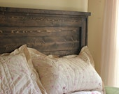 Farmhouse Full Headboard - Solid Wood - Handcrafted, Made to order Shabby Chic