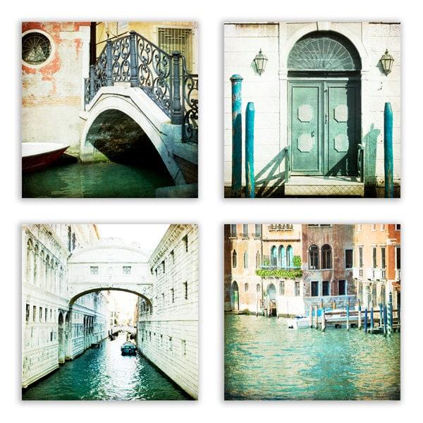 Venice Print Set Pastel Decor Home Decor Venice Wall Art