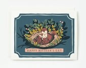 Birds in Nest Mother's Day Card 1pc