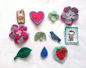 SALE ALL BROOCHES- felt brooches on sale