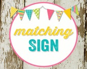 SIGN for party to match any invitation in the shop