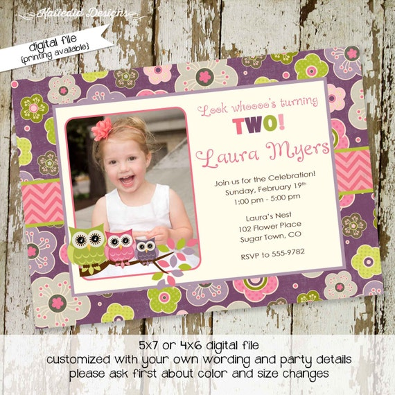 owl baby shower invitation owl first birthday birth announcement photo sip and see sprinkle ultrasound (item 217) shabby chic invitations