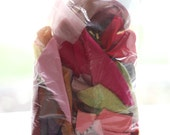 Fabric Scraps Grab Bag - Pink, Orange, Yellow, Magenta, Red
