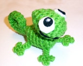 Small Green Chameleon Plushie