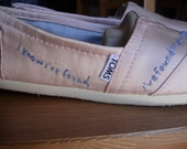 CUSTOM Wedding Vows Embroidered TOMS